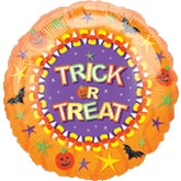 "18"" Trick or Treat Orange Boarder"