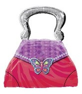 "28"" Jumbo Glitzy Girl Purse Balloon"