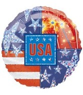 "18"" Star Spangled Prisim Balloon"