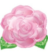 "18"" Pink Blooming Rose Mylar Balloon"