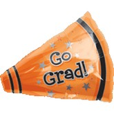 "18"" Go Grad Megaphone Shape Orange"