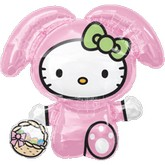 "28"" SuperShape Hello Kittty Easter Bunny"