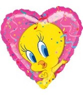 "18"" Tweety Portrait Heart Foil Balloon"