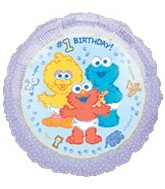 "18"" Sesame Street Beginnings #1 Birthday"