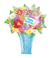 "21"" Happy Birthday Bouquet"