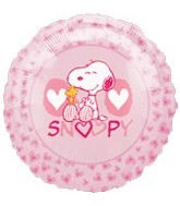 "18"" Peanuts Snoopy Love Pink Balloon"