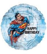 "18"" Superman Happy Birthday Foil Balloon"