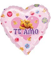 "18"" Winne the Pooh Te Amo Heart Balloon"