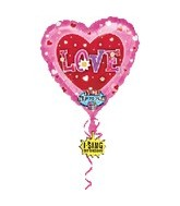 "29"" Love Singing Balloon"