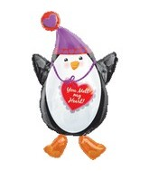 "32"" You Melt My Heart Penguin Shape"