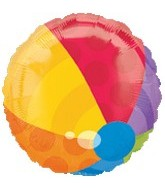 "18"" Beach Ball Shape Mylar Balloon"