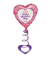 "18"" Happy Mother&#39s Day Balloon with Coil Weight"