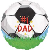 "18"" #1 Dad Soccer Balloon"