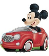"28"" Mickey Mouse Driving Car"