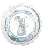 "18"" Congratulations Bear Balloon"