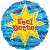 "18"" Feel Better Burst Mylar Balloon"