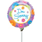 "9"" Airfill Only I&#39m Sorry Balloon"