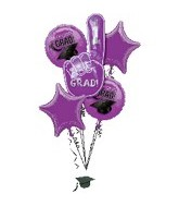 Graduation Purple Bouquet With Weight
