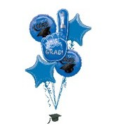 Graduation Blue Bouquet With Weight