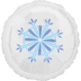 "18"" Magicolor Snowflake Clear Balloon"