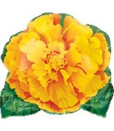 "18"" Marigold Flower Mylar Balloon"