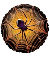 "18"" Halloween Prismatic Spider Balloon"