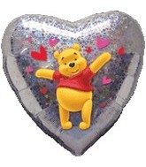 "18"" Winnie the Pooh Love Holographic"
