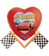 "23"" Lets Cruise Cars Movie Balloon"