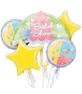 "Bridal Shower Bouquet (4-18"" Balloons, 1 Jumbo)"
