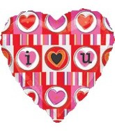 "18"" I (Heart) You Mylar Balloon"
