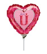 "9"" Airfill LoveU Foil Balloon"