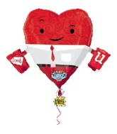 "32"" Heart Guy Singing Balloons"