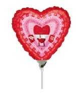 "9"" Airfill Love Hugging Heart Balloon"