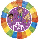 "18"" Let&#39s Party Mylar Balloon"