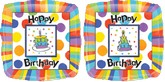 "18"" Big Dots Birthday Mylar Balloons"