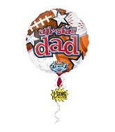 "28"" All Star Dad Singing Balloon"