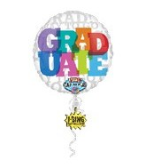 "28"" Graduate Singing Balloon"