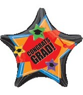 "18"" Congrats Grad Stars and Hats Balloon"
