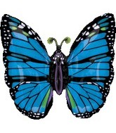 "36"" Blue Butterfly Balloon"