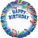 "18"" Happy Birthday Balloons Personalized"