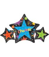 "25"" Cheers Star Trio Mylar Balloon"