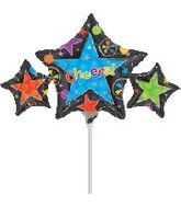 "14"" Airfill Cheers Star Trio"