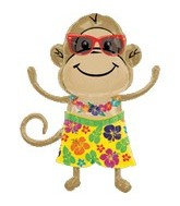 "33"" Monkey Balloon Luau Boy Shape"