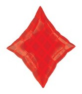"18"" Red Diamond SuperShape Balloon"