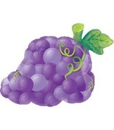 "18"" Super Shape Fruit Grapes Mylar Balloon"