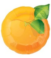 "18"" Super Shape Fruit Orange Mylar Balloon"
