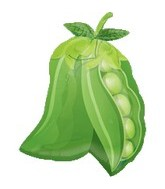 "18"" Super Shape Peas Mylar Balloon"