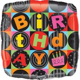 Jumbo Birthday Square Black