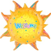 "24"" Wlcome Sun Shape Mylar Balloon"