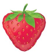 "18"" Super Shape Fruit Strawberry Balloon"